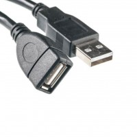 Дата кабель USB 2.0 AM/AF 0.1m PowerPlant (KD00AS1209)