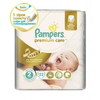 Подгузник Pampers Premium Care New Born (3-6 кг) 22 шт (4015400687733)