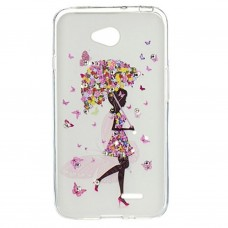 Чехол для моб. телефона для LG L70 Dual (D325) (White) Cristall PU Drobak (211593)
