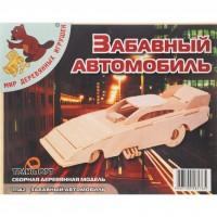 Сборная модель Мир деревянных игрушек Забавный автомобиль (П142)