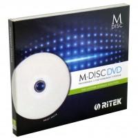Диск DVD-R RITEK 4.7Gb 4X Jewel 1 pcs Printable M-DISC (90Y31IARTK001)