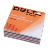 """Бумага для заметок Delta by Axent """"MIX"""" 80Х80Х20мм, glued (D8012)"""
