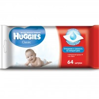 Влажные салфетки Huggies Classic 64 шт (5029053561097)