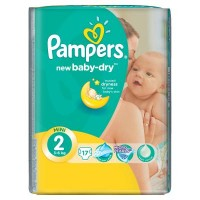 Подгузник Pampers New Baby-Dry Mini (3-6 кг), 17шт (4015400647515)