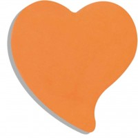 "Бумага для заметок BUROMAX with adhesive layer ""Heart"", 50 sheets, NEON colors mix (BM.2362-99)"