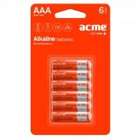Батарейка ACME AAA Alcaline * 6 (4770070868485)