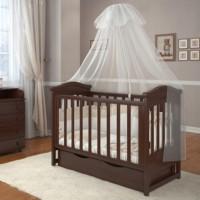 Кроватка Angelo Lux-4 орех (18757)