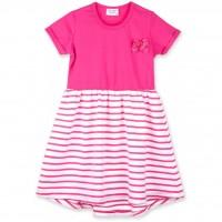 Платье Breeze с юбкой в полосочку (8753-80G-fuchsia)