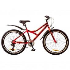 """Велосипед Discovery 24"""" FLINT 14G Vbr 14"""" St красно-черный 2017 (OPS-DIS-24-062)"""