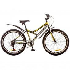 """Велосипед Discovery 24"""" FLINT 14G Vbr 14"""" St черно-бело-желтый 2017 (OPS-DIS-24-059)"""