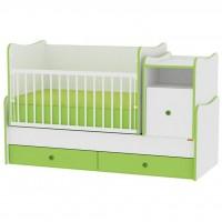 Кроватка Bertoni/Lorelli Trend Plus New White/Green (18229)