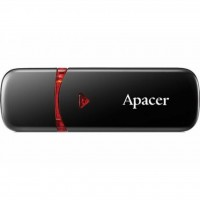 USB флеш накопитель Apacer 16GB AH333 black USB 2.0 (AP16GAH333B-1)