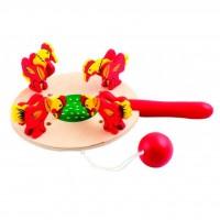 Развивающая игрушка Мир деревянных игрушек Курочки и зернышки цветная (Д085)