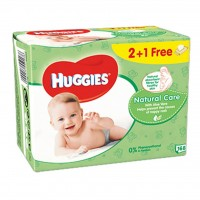 Влажные салфетки Huggies Natural Care 56 х 3 шт (5029053550176)