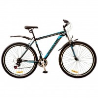 "Велосипед Discovery 29"" TREK AM 14G DD 21"" St черно-сине-серый 2017 (OPS-DIS-29-021)"