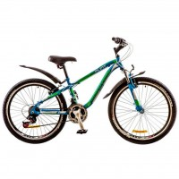 "Велосипед Discovery 24"" FLINT AM 14G Vbr 13"" St сине-зелено-белый 2017 (OPS-DIS-24-051)"