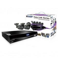 Комплект видеонаблюдения KGuard EL421-2HW212B