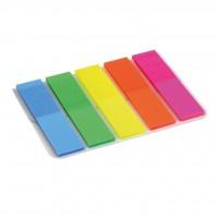 Стикер-закладка Axent Plastic bookmarks 5х12х50mm, 125шт, rectangles, neon colors (2440-01-А)