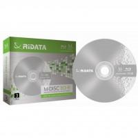Диск BD-R RIDATA 25Gb 4x Slim 3pcs Printable (fullface) M-DISC (90U13IFRDA004)