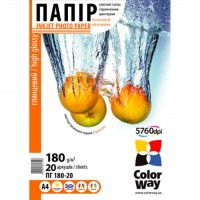 Бумага ColorWay A4 (ПГ180-20) (PG180020A4)