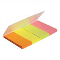 Стикер-закладка Axent Paper bookmark 4х20х50mm, 160шт, rectangles, neon colors mix (2445-01-А)