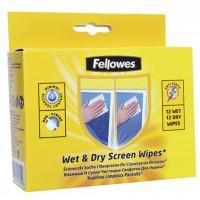 Салфетки Fellowes Wet&Dry Screen Wipes (f.99702)
