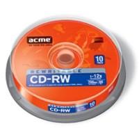 Диск CD-RW ACME 700Mb 12x CakeBox 10шт (4770070853627)