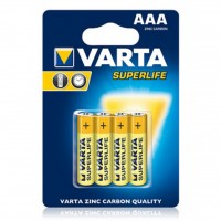 Батарейка Varta SUPERLIFE ZINC-CARBON * 4 (2003101414)