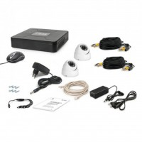 Комплект видеонаблюдения Tecsar AHD 2OUT-DOME (6360)