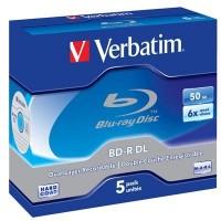 Диск BD-R Verbatim DL 50Gb 6x Jewel Case 5шт (43748)