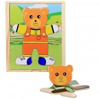 Развивающая игрушка Мир деревянных игрушек Медвеженок Миша (Д181б)
