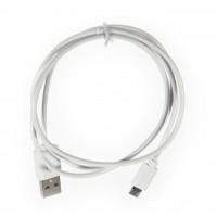 Дата кабель Vinga Rainbow M White USB 2.0 AM – Micro USB Тип B 1.0м (CUM0100WH)