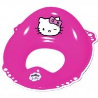 Накладка на унитаз Maltex Hello Kitty c нескользящими резинками розовый (12665)