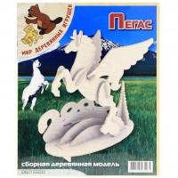 Сборная модель Мир деревянных игрушек Пегас (П106)