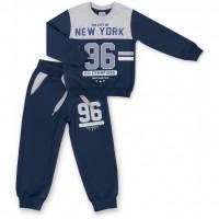 """Спортивный костюм Breeze серый меланж индиго """"New York"""" (7938-116B-gray-blue)"""