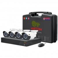Комплект видеонаблюдения Partizan Outdoor Kit 1MP 4xAHD (81084)