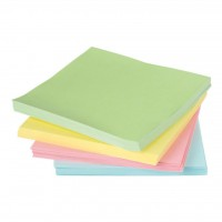 Бумага для заметок Axent Static notes block 75x75мм, 100sheets., pastel pink (2448-03-А)