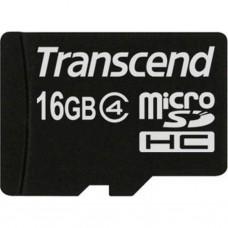 Карта памяти Transcend 16GB microSD class 4 (TS16GUSDC4PB)