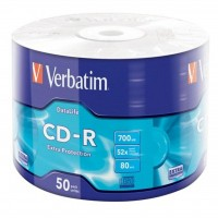 Диск CD-R Verbatim 700Mb 52x Wrap-box Extra (43787)