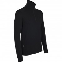 Футболка Icebreaker BF 260 Tech LS Half Zip MEN black L (100 484 001 L)