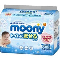 Влажные салфетки Moony 3 х 50 шт (4903111182220)