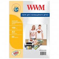 Бумага WWM A3 Sublimation (SP100.A3.20)