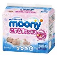 Влажные салфетки Moony для ягодиц Бережное очищение 3 х 60 шт (4903111180509)