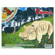 Сборная модель Мир деревянных игрушек Свинья (М012)