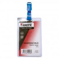 Бейдж Axent vertical 11,7*6,4cm, clip, clear (4505-А)