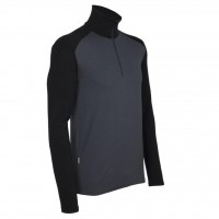 Футболка Icebreaker BF 260 Tech LS Half Zip MEN monsoon/black XL (100 484 D46 XL)