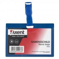Бейдж Axent horizontal 9,8*6,8cm, clip (4503-А)
