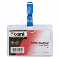 Бейдж Axent horizontal 9,8*6,8cm, clip, clear (4502-А)