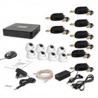 Комплект видеонаблюдения Tecsar AHD 8OUT DOME (6648)