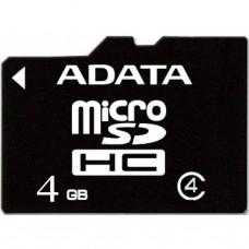Карта памяти A-DATA 4GB microSD class 4 (AUSDH4GCL4-R)